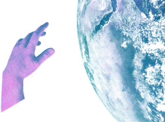 A hand and the earth