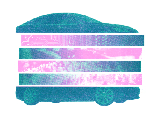 A sliced up car